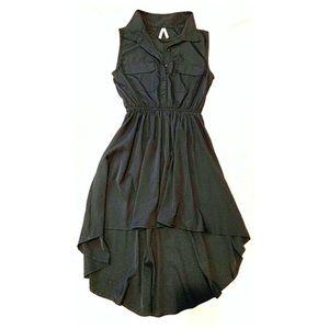 Asymmetrical black shirt dress Lovely & versatile